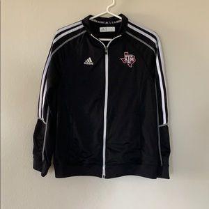 Black TAMU Zip Up Jacket
